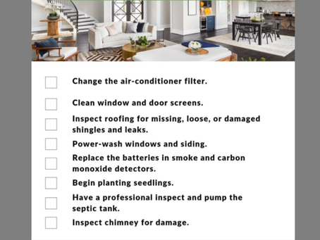 March Home Maintenance Tips