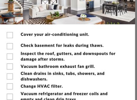 January Home Maintenance Tips