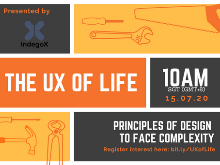 Free online workshop: The UX of Life July 2020