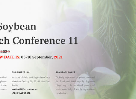 5.9 - 10.9.2020: World Soybean Research Conference 11