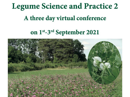 1.9 - 3.9.2021: Second Legume Science and Practice Conference