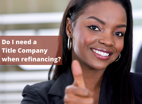 Do I need a title company to refinance my home?