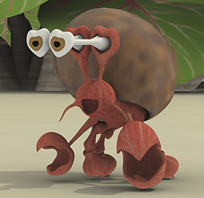 3D Model Character Crab for coming feature film