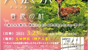 文鹿祭 Bunkasai 2021[ありがとう!医療従事者のみなさんマルシェ] 開催のお知らせ 2021/3/23(火)開催 生田神社(神戸三宮)10時~19時