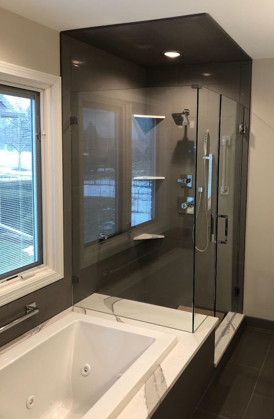 Modern Corner Shower Enclosure
