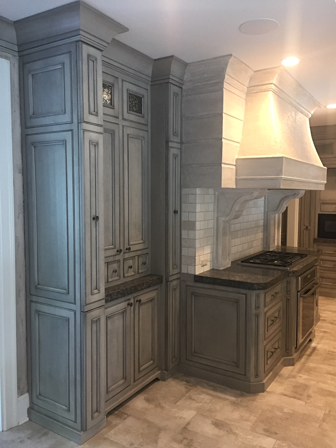 Custom Storage Cabinet and Vent Hood