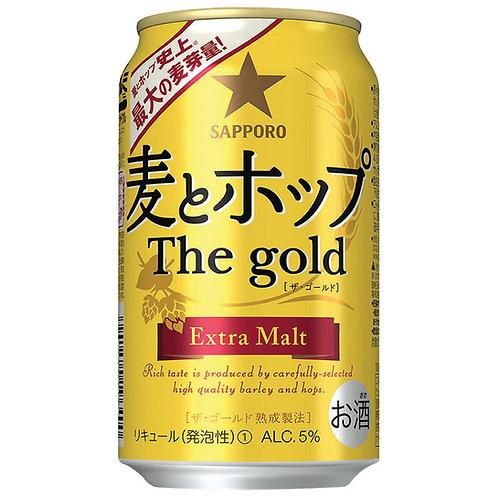 Sapporo Mugi Hop The Gold 七寶黃金加麥啤酒 (Box/箱 of 24 Cans罐)