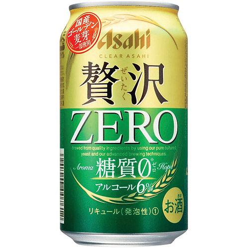 Asahi Zeitaku Zero Suger 2018 朝日贅沢無糖啤酒 (Box/箱 of 24 Cans罐)