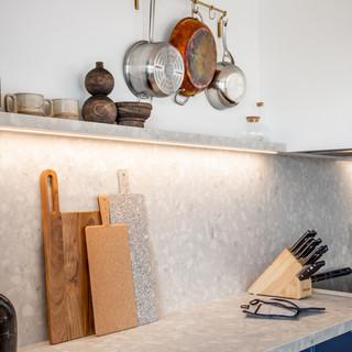 12-industrial modern kitchen-blue kitche