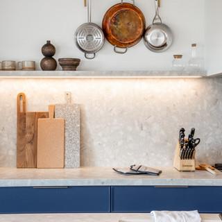 11-industrial modern kitchen-blue kitche