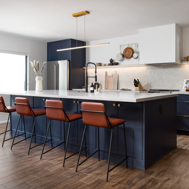 1-industrial modern kitchen-blue kitchen