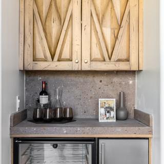 47-desert modern bar-concrete counter to