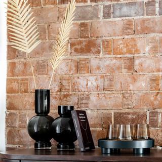 29-Dried Floral-Black Glass Vessels-Glas