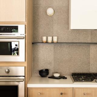 16-Simply Nordic-Scandinavian-Minimalistic-White oak-concrete-Terrazzo-Black Metal Stools-Undermount Lighting-Kitchen Decor-Backsplash Tile.jpg