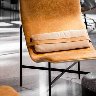 36-industrial leather chair-concrete flo