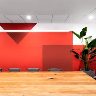 4-industrial modern conference room-oak