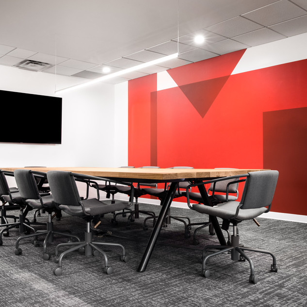 3-industrial modern conference room-oak