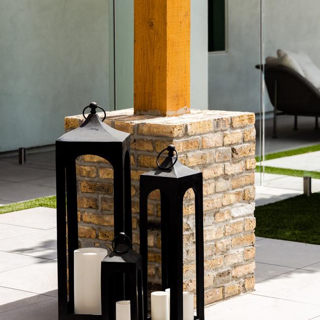 16-black lantern-outdoor decor-black can