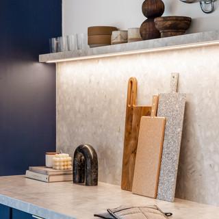 7-industrial modern kitchen-blue kitchen