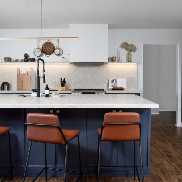 2-industrial modern kitchen-blue kitchen