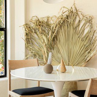 12-Simply Nordic-Scandinavian-Minimalistic-White oak-concrete-Terrazzo-Black Metal Stools-Wooden Slat Door-Undermount Lighting-White Dining Table-Shape Decor.jpg