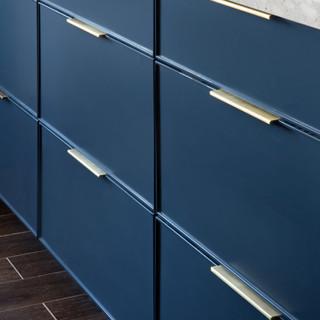9-industrial modern kitchen-blue kitchen