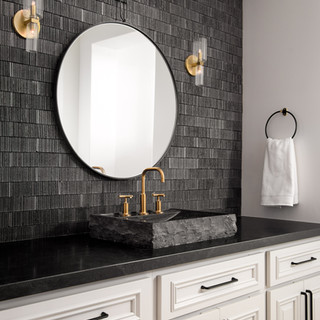 13-modern bathroom-black vanity wall-til