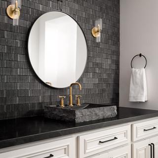 13-modern bathroom-black vanity wall-til
