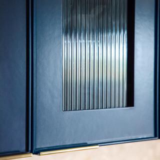 17-industrial modern kitchen-blue kitche