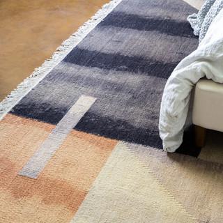 18-Vintage Desert Bedroom-Geometric Rug-