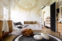 16-Modern nursery-brown knot floor cushi