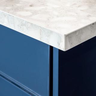 14-industrial modern kitchen-blue kitche