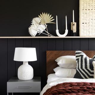 2-Black accent wall- mid century modern