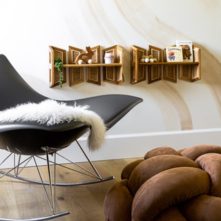 17-Modern nursery-brown knot floor cushi