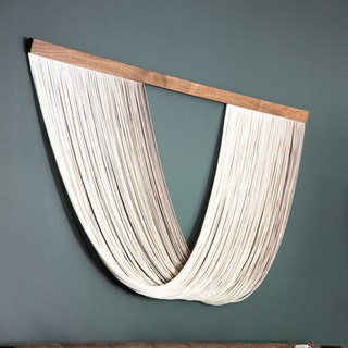 34-accent wall-fiber art-leather tufted