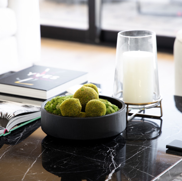 10-moss balls-black bowl-marble coffee t