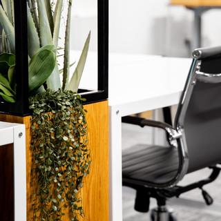 17-industrial modern office-white desks-
