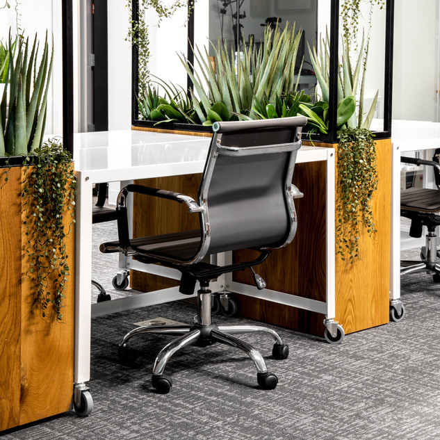 13-industrial modern office-white desks-