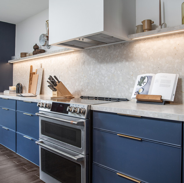 5-industrial modern kitchen-blue kitchen