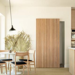 4-Simply Nordic-Scandinavian-Minimalistic-White oak-concrete-Terrazzo-Black Metal Stools-Wooden Slat Door-Undermount Lighting-White Dining Table-Shape Decor.jpg