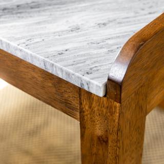 12-Vintage Desert Office-Wood Desk-Marbl
