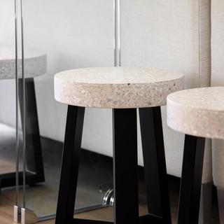 4-terrazo stool-concrete stool-clear sof