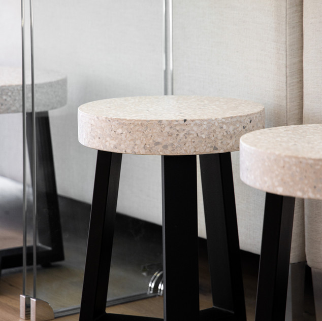 4-terrazo stool-concrete stool-clear sof