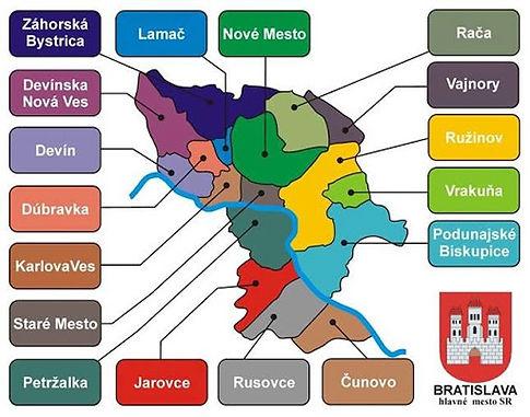 Районы Братиславы
