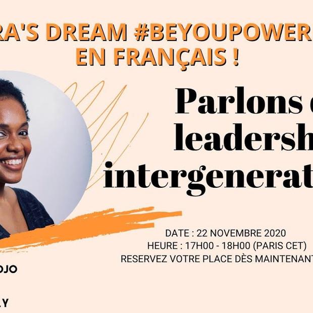 Rejoignez la discussion de Zahara's Dream (le rêve de Zahara) #BeYouPowerfully avec Nadia Ahidjo