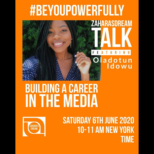 Zahara's Dream #BeYouPowerfully: Building a Career in the Media