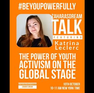 Zahara's Dream #BeYouPowerfully Talk: The Power of Youth Activism
