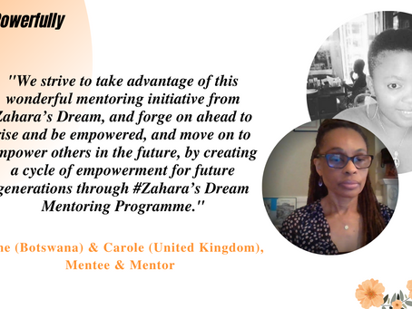 """Zahara's Dream Mentorship programme is international, and connects strangers into a space of hope"""