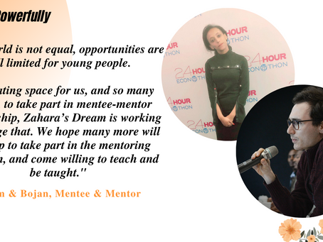 """Zahara's Dream: A Two-Way Mentoring Street"""