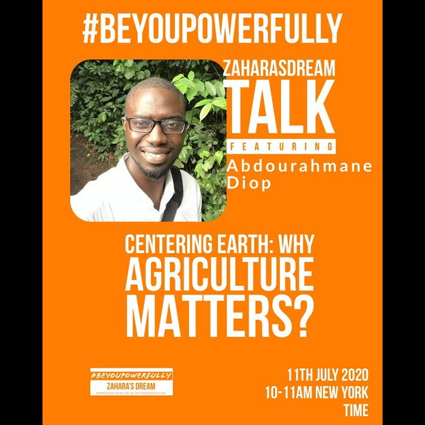 Zahara's Dream #BeYouPowerfully Why Agriculture Matters?